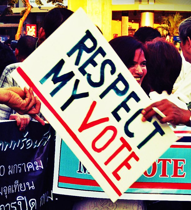 Respect My Vote movement believes in peaceful demonstrations for their right to vote and rejects coups.