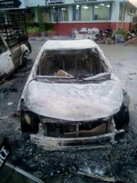 Phuket burnt vehicle