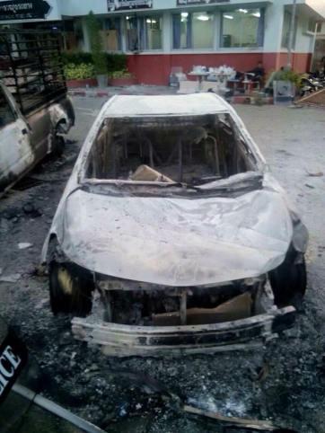 Phuket burnt vehicle